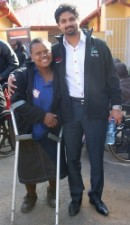 Promise Nhlapho with the NYDA Executive Chairperson, Yershen Pillay at the launch of the Thusano Fund in Soweto