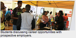 Prospective employers engage with UKZN students at Exhibition 2 SA Study University, FET and Bursary Information South Africa
