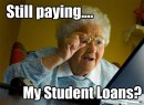 Pay off your student loans now